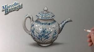 how to draw a porcelain teapot youtube