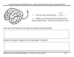 Anger Management Worksheets For 25 Best Anger Images On Therapy Worksheets Therapy