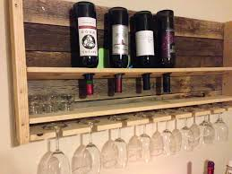 decorating white wall design in modern kitchen plus pallet wine