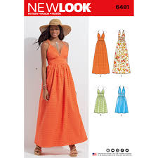 new look 6491 dresses in two lengths with bodice variations