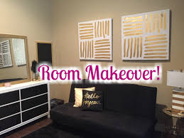 Black White And Gold Living Room by Room Makeover 2016 Black White Gold Theme Youtube
