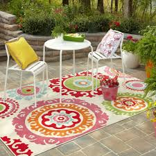 Retro Patio Table by Impeccable Outdoor Colorful Patio Design Inspiration Integrating