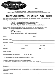 Salon Client Information Sheet Template Customer Information Form Template Customer Form Jpg