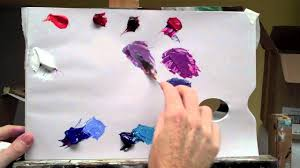 basic acrylic colour mixing how to mix a perfect purple part 2