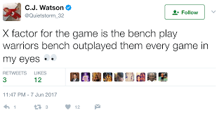 nba players react to game 3 of the 2017 finals
