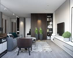 Wall Lights Living Room Spacious Looking One Bedroom Apartment With Dark Wood Accents