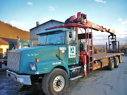 commercial volvo trucks for sale 2001 volvo wg64t tri axle flatbed boom truck for sale by arthur
