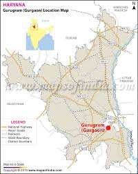 India State Map by Gurgaon Location Map Where Is Gurgaon