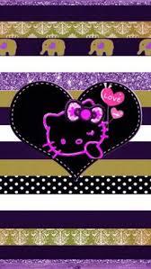 wallpaper hello kitty violet w phone hello pinterest