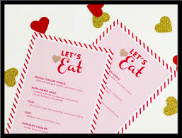 dinner menu templatereference letters words reference letters words