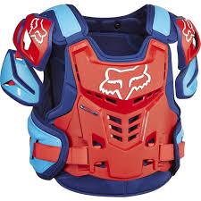 motocross gear 2017 fox raptor proframe mx motocross body armour blue red