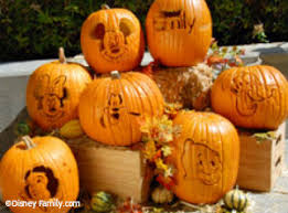 free pumpkin templates allow families to carve disney character