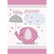 pink elephant baby shower lunch napkins