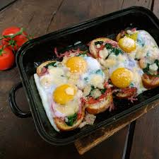 cuisine facil nyc style baked eggs recipe on the blind taste by
