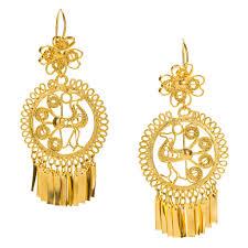 trendy gold earrings mexican filigree earrings from oaxaca jj caprices