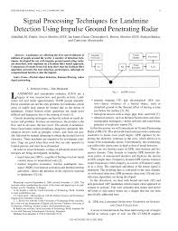 signal processing techniques for landmine detection using impulse