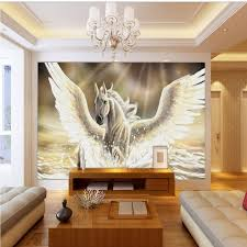 hall painting photo wallpaper pegasus oil painting background wallpaper bedroom