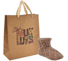 muk luks ardie knit slippers with gift bag page 1 qvc