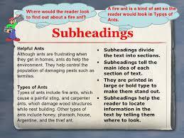 Essay subheadings example