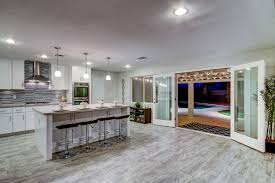 faux marble tile flooring for latest kitchen design trends with