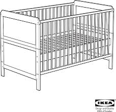 Converting Crib To Toddler Bed Manual by Ikea Crib Pdf Baby Crib Design Inspiration