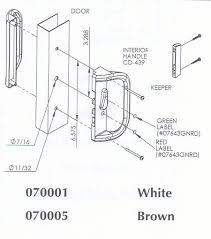 Patio Door Handle Replacement Sliding Patio Door Handles Replacing Surface Mount Handles