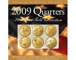 State Series Quarters Collector Map by 2003 24kt Gold Annual Quarter Collection Coins Of America