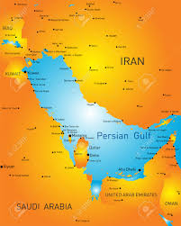 color map of persian gulf countries royalty free cliparts vectors
