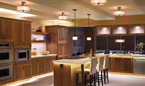 kitchen lighting design yellow stained wall stainless steel