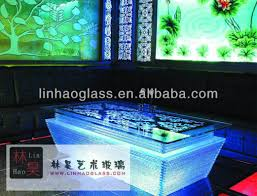 round led coffee table square led cafe table view led coffee