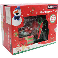 giant box of christmas craft 1000 pieces hobbycraft