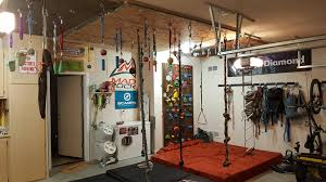 my garage climbing training gym album on imgur started off with just a hangboard but started getting used routes and making them into braided settings for the kids most of the grips were from three ball