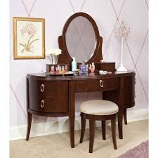 100 linon home decor vanity set with butterfly bench black