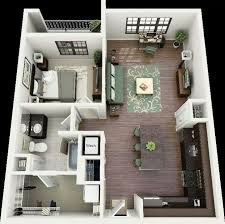 One Floor Small House Plans 50 One U201c1 U201d Bedroom Apartment House Plans Small House Floor Plans