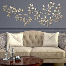 stratton home decor brushed gold flowing leaves wall decor shd0106