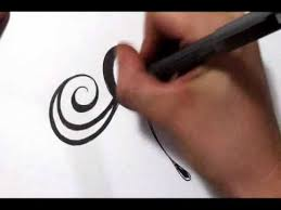 drawing a fancy cursive initial design letter a youtube