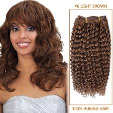 14 inch hair extensions inch 6 light brown afro curl indian remy hair wefts