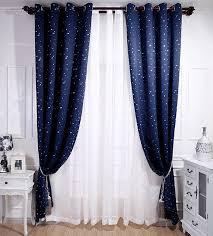 rideaux chambres enfants beau ciel étoile à motifs rideaux rideau plein store occultant drapé