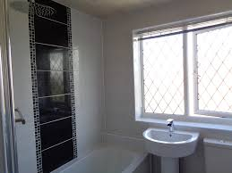 feature tiles bathroom ideas bathrooms refitted bathroom with white tiles and black feature