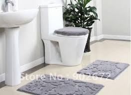 Gray Bathroom Rug Sets Modern Perfect 4 Piece Bathroom Rug Set Bath Rug Sets With