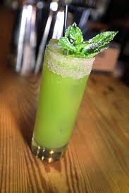 green cocktail just add liquor to fruity green juice from mexico post and