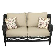 Outdoor Wicker Settee Cushions by Furniture Patio Loveseat With Cushions For Exciting Outdoor