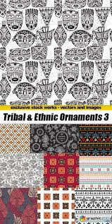 tribal ethnic ornaments 3 25xeps free vector stock