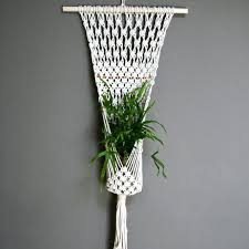 Wall Plant Holders Plant Stand Wituse Double Layer Simple Handmade Cotton Font