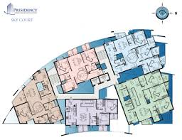 Floor Plan Of A Shopping Mall Presidency Sky Court 2 And 3 Bedroom Flats Apartments Ranging