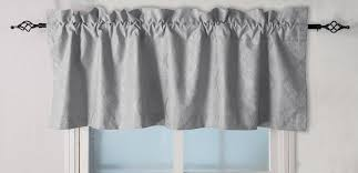 Nursery Valance Curtains Curtain Gray Linen Valance Metallic Silver Window Scarf White