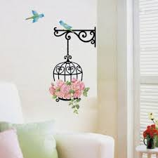 compare prices on wall vinyl stickers online shopping buy low new qualified delicate new fashion birdcage wall sticker home decor vinyl removeable mural decal with birds