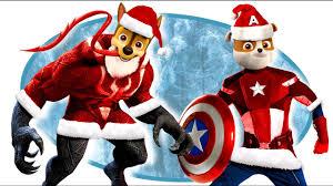 paw patrol venom captain america santa claus coloring pages