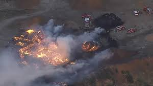 North Bay Fire Ban Status by Firefighters Battle 2 Alarm Wood Pile Fire Near Benicia Cbs San