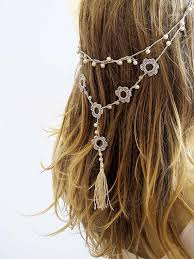 handmade headbands crochet headband and necklace hairband wedding pearl tassel hair